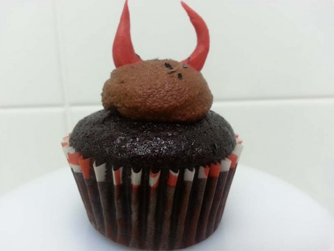 Bitter Chocolate Cupcake