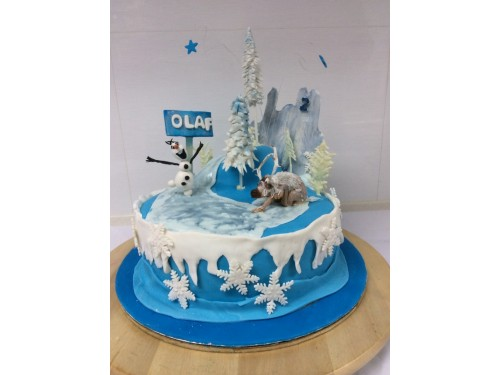 Olaf  and Sven- Frozen Movie Cake