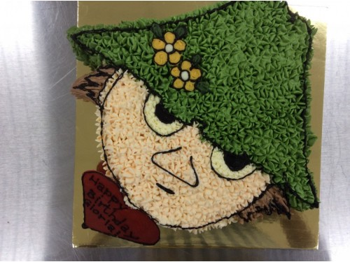 Moomin Snufkin Cartoon Cake