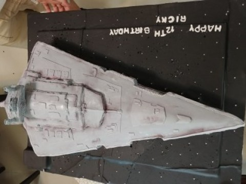 Star Wars- Imperial Star Destroyer Cake