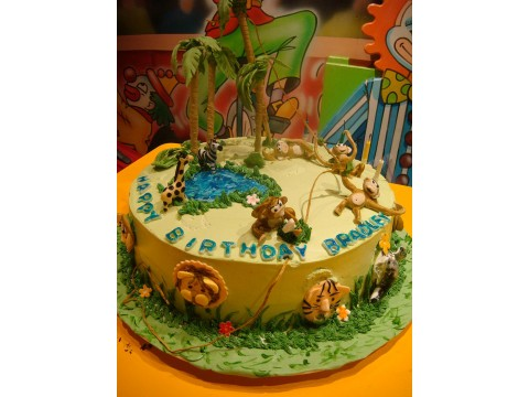 Jungle Animal Cake (3 lbs)