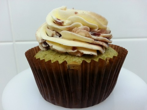 Greentea cupcake with Red Bean Frosting