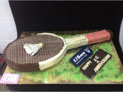 Badminton Racket Cake