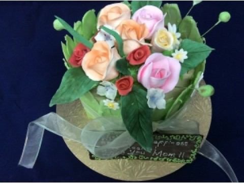 Rose Bouquet cake 1